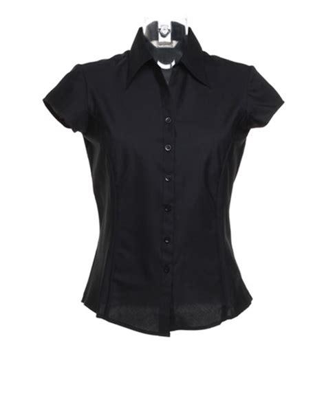 new bargear womens bar work cap sleeved shirt blouse black white ebay