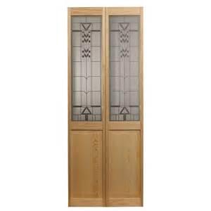 Bi Fold Doors Interior Pinecroft 32 In X 80 In Colonial Glass Universal Reversible Wood Interior Bi Fold Door 873728