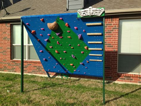 backyard rock wall backyard climbing and training wall