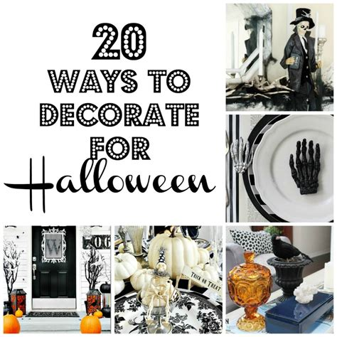 Ways To Decorate Home | 20 ways to decorate for halloween halloween home tour
