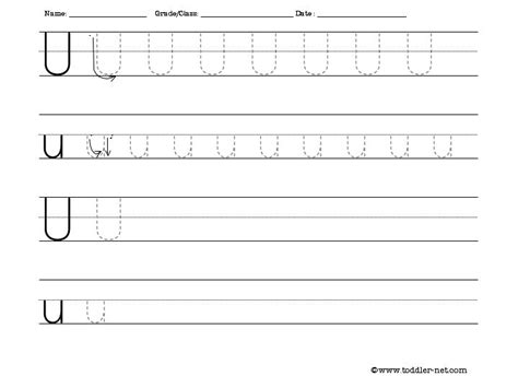 Letter U Worksheets by Tracing And Writing Letter U Worksheet