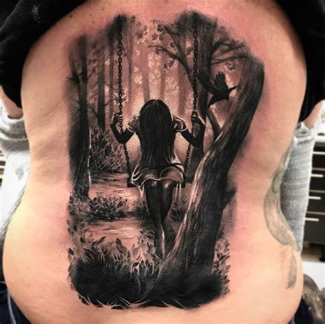 swing in the woods best tattoo design ideas