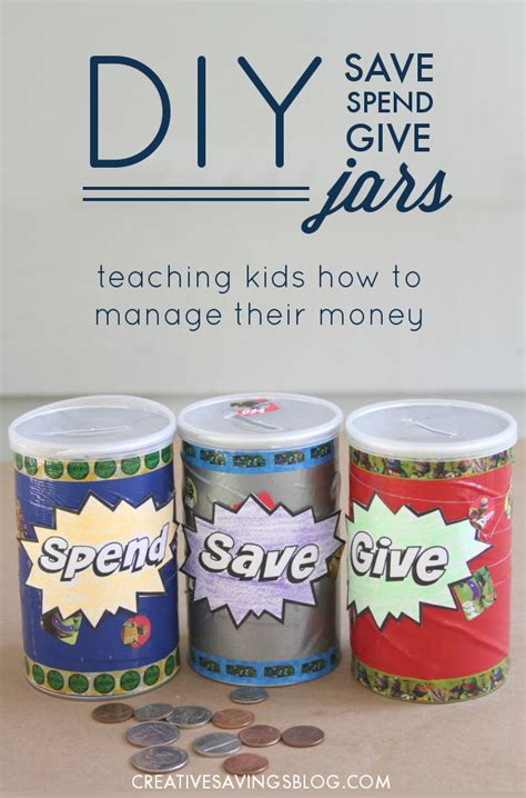 Kfeds Money Ideahow Low Will He Go by Diy Save Spend Give Jars Teaching To Manage Money