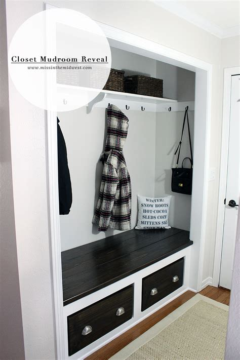 Mudroom Closet Designs by Closet Mudroom Reveal Miss In The Midwest
