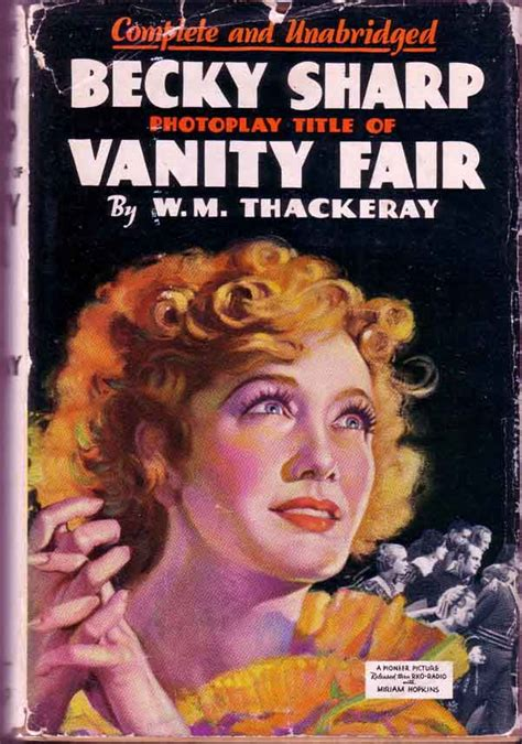 Becky Sharp Vanity Fair by Becky Sharp Photoplay Title Of Vanity Fair William M