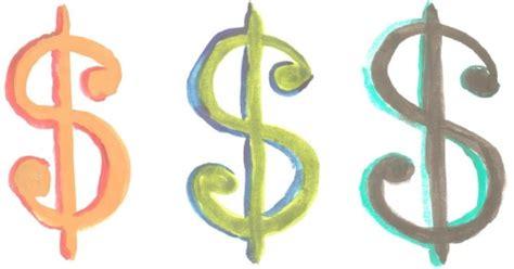 dollar sign on