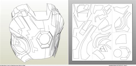 iron man suit template papercraft pdo file template for iron 45