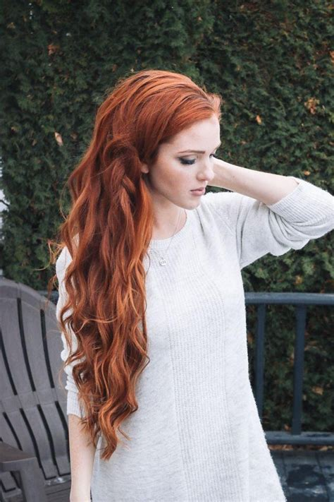long haircuts with a back view redheads 15 best collection of long hairstyles red hair