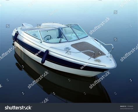 motor boat z small motor boat on quiet water stock photo 11954845