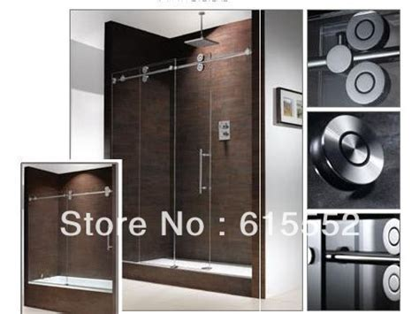 sliding frameless barn door glass shower door hardware in