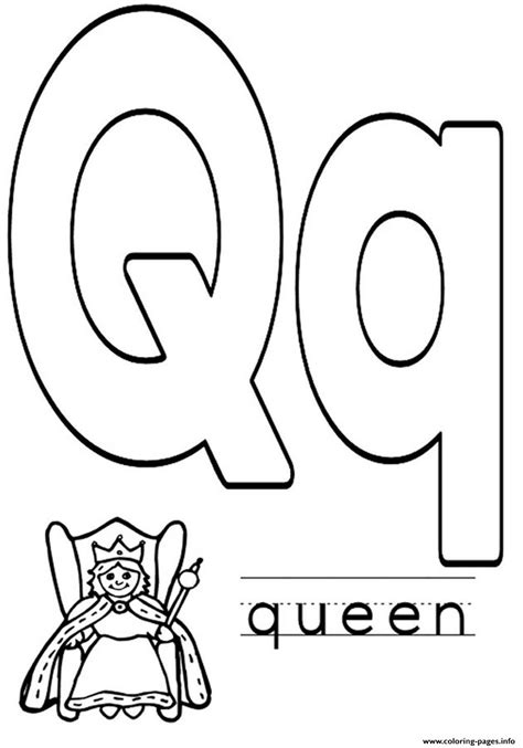 alphabet coloring pages q alphabet s q for queen2228 coloring pages printable