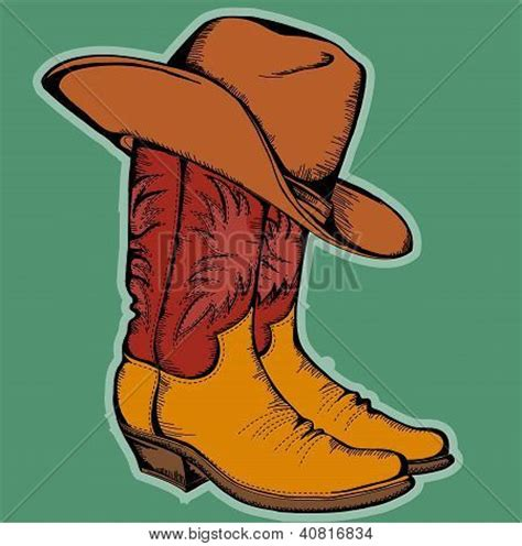 imagenes vaqueras de año nuevo vectores y fotos en stock de botas vaqueras y hat vector