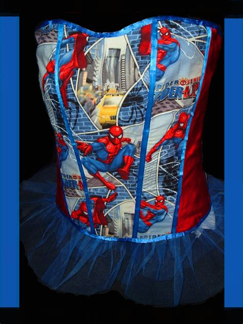 spiderman sewing pattern spiderman corset sewing projects burdastyle com