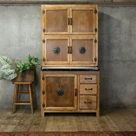 vintage rustic oak kitchen pantry larder cupboard