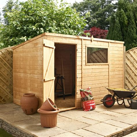 10 By 6 Garden Sheds 10 X 6 Waltons Tongue And Groove Pent Wooden Shed