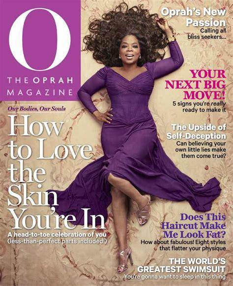 oprah winfrey o magazine oprah winfrey strikes a sultry pose at age 60 reveals