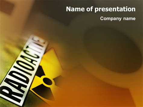 ppt templates for nuclear radioactive presentation template for powerpoint and