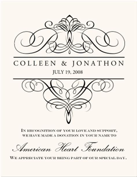 Wedding Donation Cards Wedding Favor Cards Donations As Wedding Favors Customized Wedding Favor Wedding Donation Cards Templates