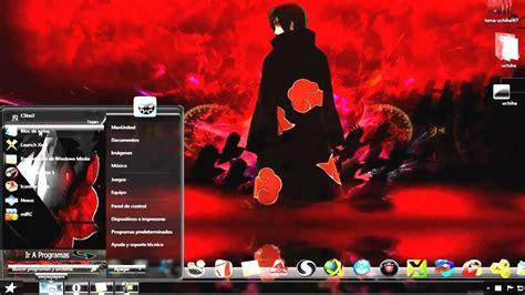 themes naruto windows 7 tema naruto itachi uchiha para windows 7 youtube