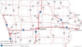 map us iowa map of iowa
