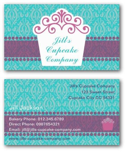 cupcake business card templates ne14 design