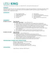 Fitness Instructor Resume by Unforgettable Instructor Resume Exles To Stand Out Myperfectresume
