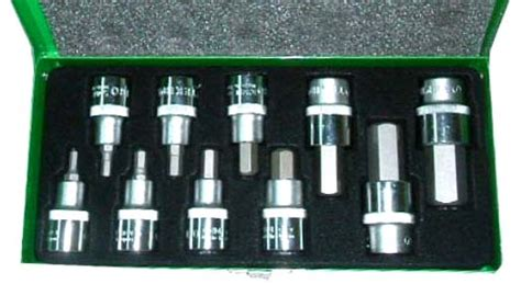 American Tool Kunci Pas Pas 19 X 21 Mm tekiro set hex socket bit 1 2 quot 10pcs via lapakotomotif
