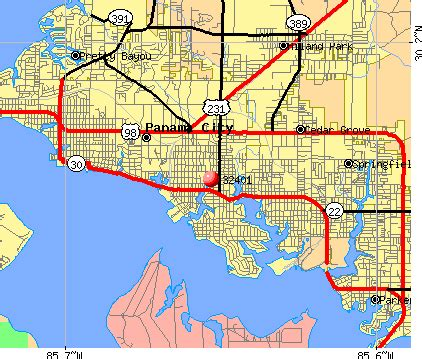 panama city map of florida deboomfotografie