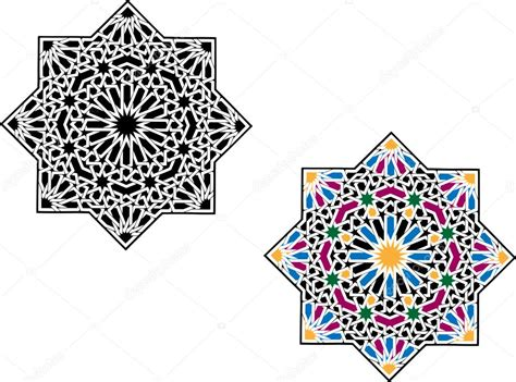 round islamic pattern vector colorful round islamic patterns stock vector 169 morrmota