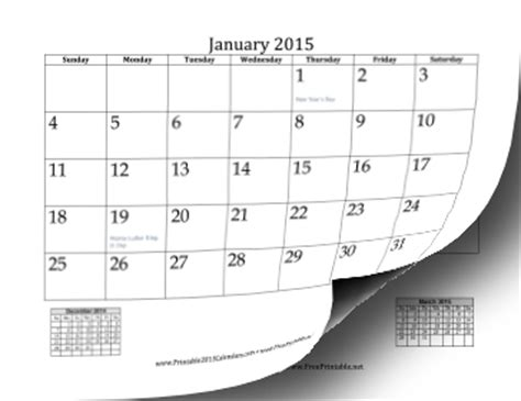 2015 Calendar By Month Free 2015 Printable Calendar By Month