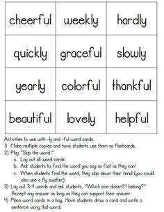 ly pattern words suffixes tion and sion education pinterest word