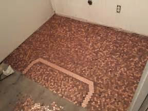 he made an awesome floor out of pennies you can