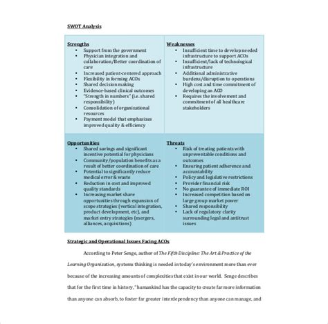 Swot Analysis In Healthcare Ideal Vistalist Co Dxc Powerpoint Template