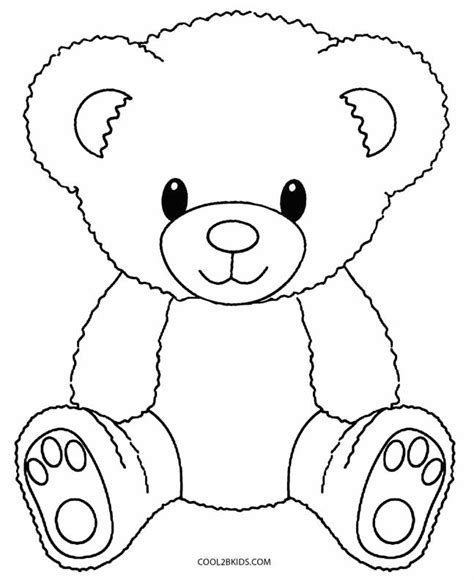 printable teddy bear coloring pages for kids cool2bkids
