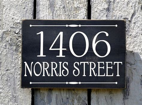 Address Plaques For Front Yard - custom house numbers outdoor address number plaque welcome