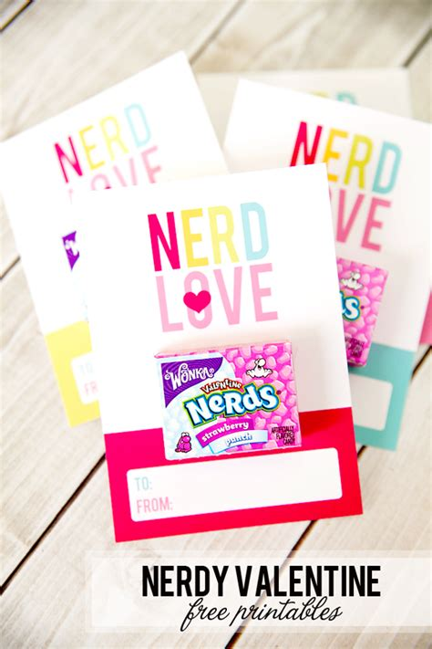 nerdy valentines day nerdy s day free printables frog prince paperie
