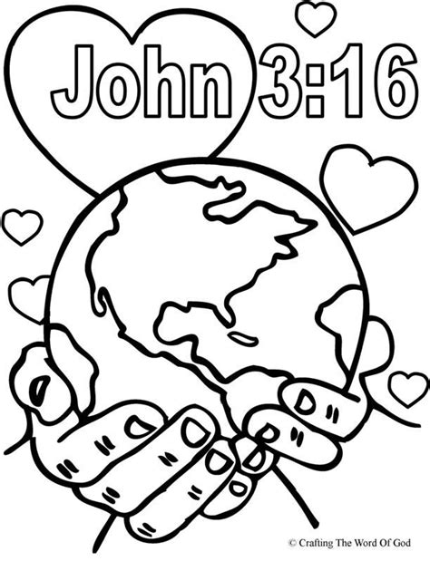 imgs for gt god so loved the world coloring page