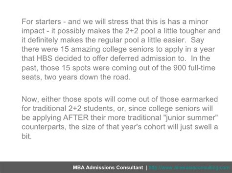 Deferred Mba For College Senior by Hbs 2 2s New Look