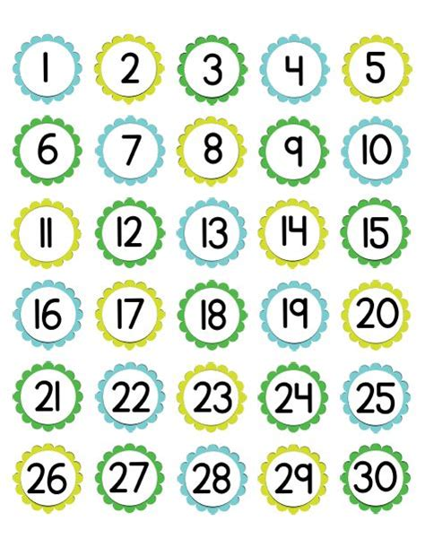 printable number label printable numbers 1 30 boxfirepress