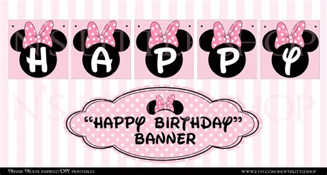 printable minnie birthday banner 4 best images of minnie mouse birthday banner printable