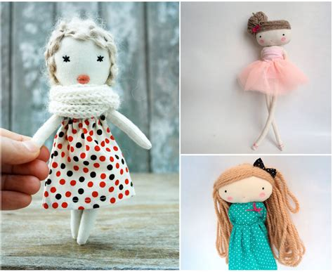 Handmade Dolls - mollymoocrafts my favourite handmade softies and dolls