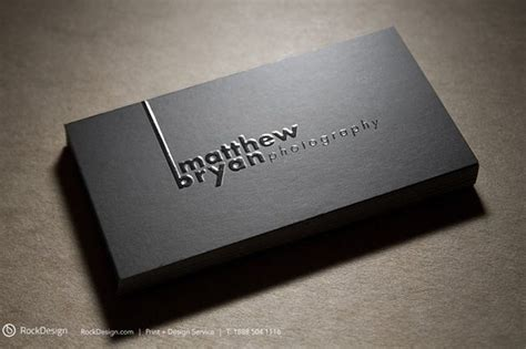 Embossed Name Card Template by Get Inspired From This Awesome Black Embossed Business