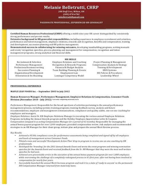 collection of solutions hr objective samples for cv human resources