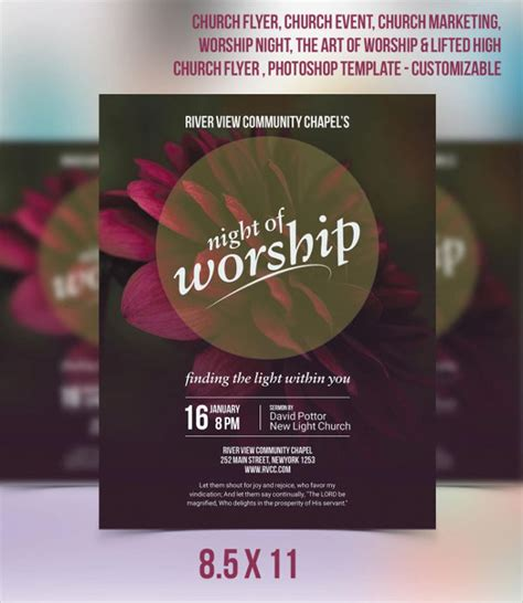 church invitation flyer template infoinvitation co