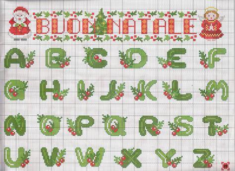 lettere alfabeto natalizie alfabeto natale magiedifilo it punto croce uncinetto