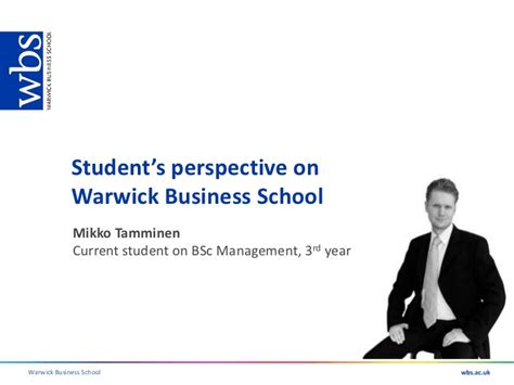 Warwick Mba Placements by Wbs Undergraduate Open Day 27th April 2011