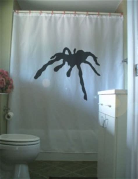 big spider in bathroom bath shower curtain giant spider tarantula black widow 8 leg