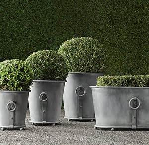 estate zinc ring planters garden ideas