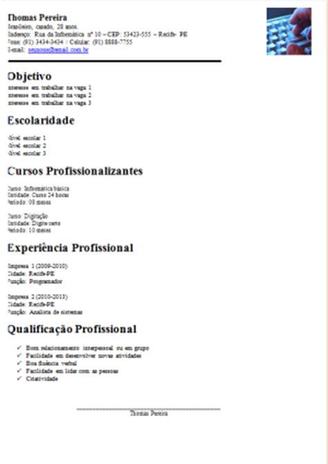 Modelo Curriculum Facil Como Fazer Um Curriculo Gratis Como Fazer Um Curriculo