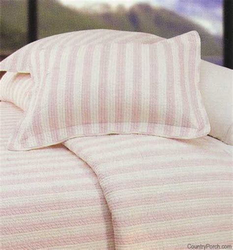 pink and white striped comforter wellesley pink stripes quilt